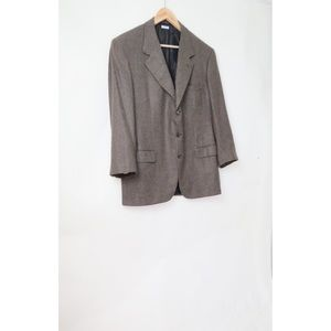 Brioni augusto brown pure cashmere blazer jacket